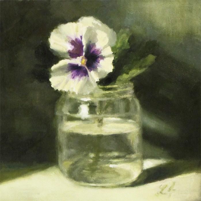 """Pansy"" original fine art by Linda Jacobus"