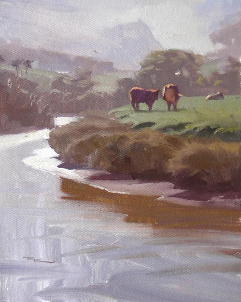 """Morning, Waipu River"" original fine art by Richard Robinson"