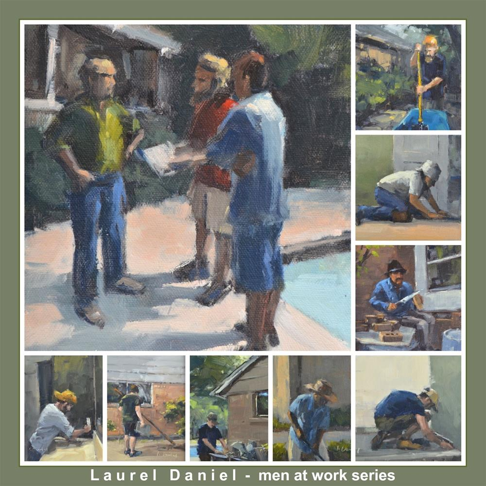 """Men At Work - Series Collage"" original fine art by Laurel Daniel"