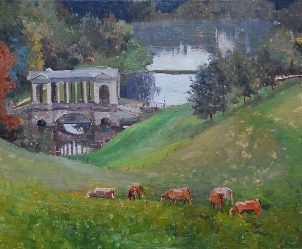 """Grey Mist, Priory Park, Bath"" original fine art by Adebanji Alade"
