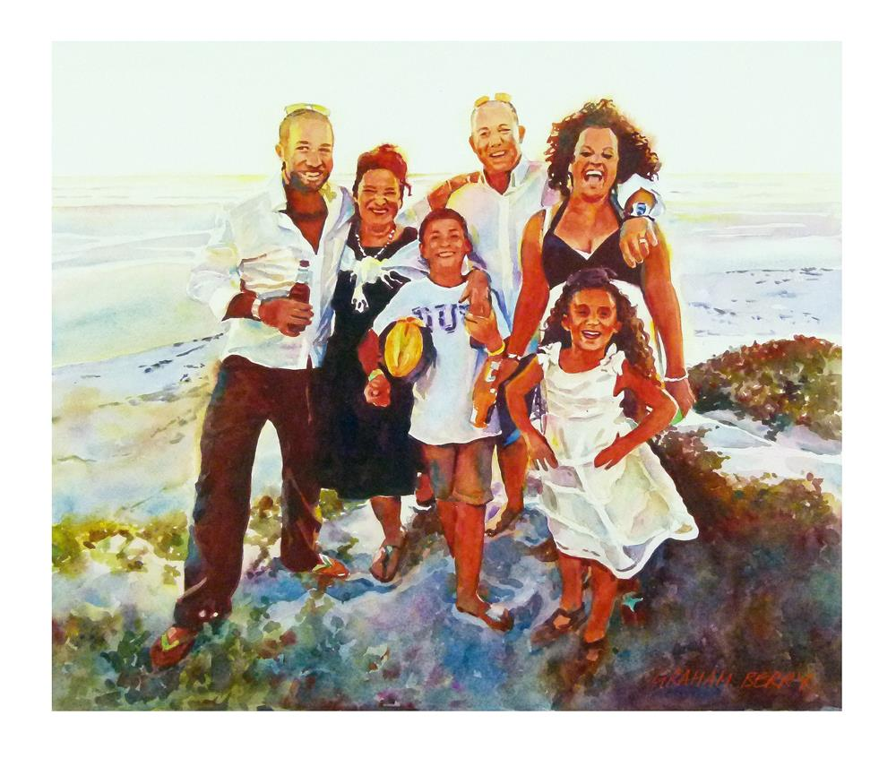 """""""Kerry and family"""" original fine art by Graham Berry"""