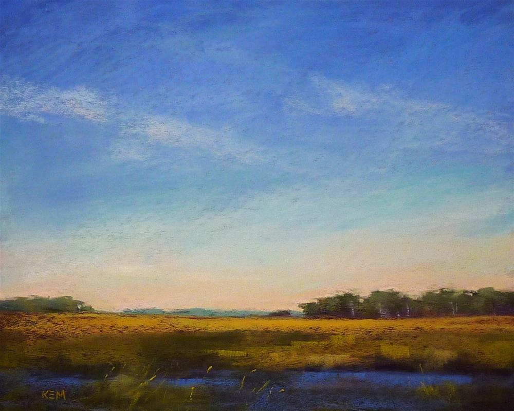 """Painting the Marshes in Pastel"" original fine art by Karen Margulis"