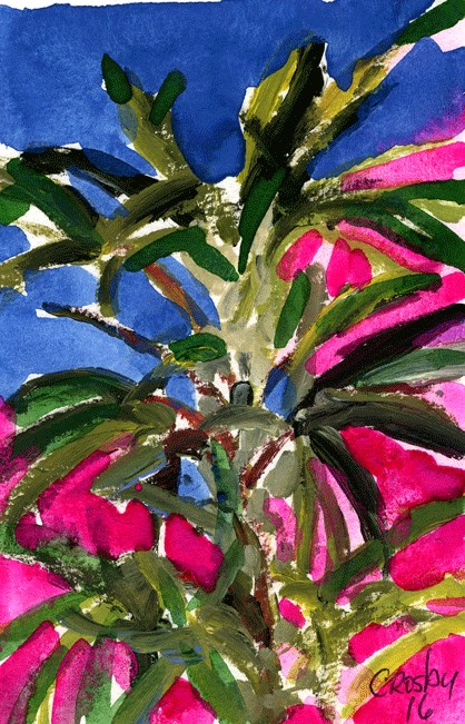 """""""Plant From Below"""" original fine art by Donna Crosby"""