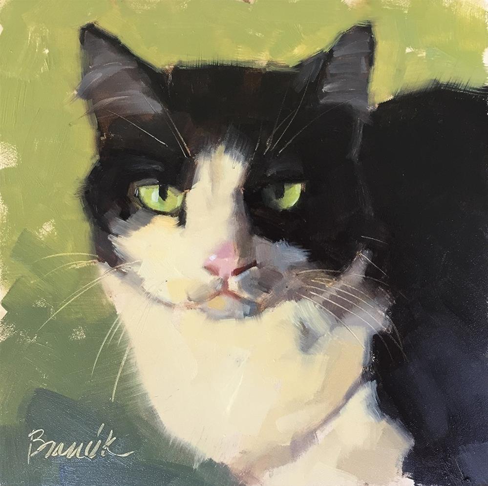 """Green Eyes"" original fine art by Candace Brancik"