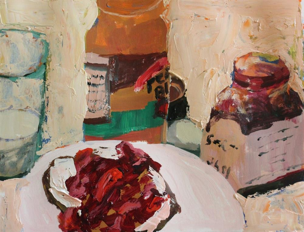"""""""Still Life with Peanut Butter and Jelly"""" original fine art by Christine Parker"""