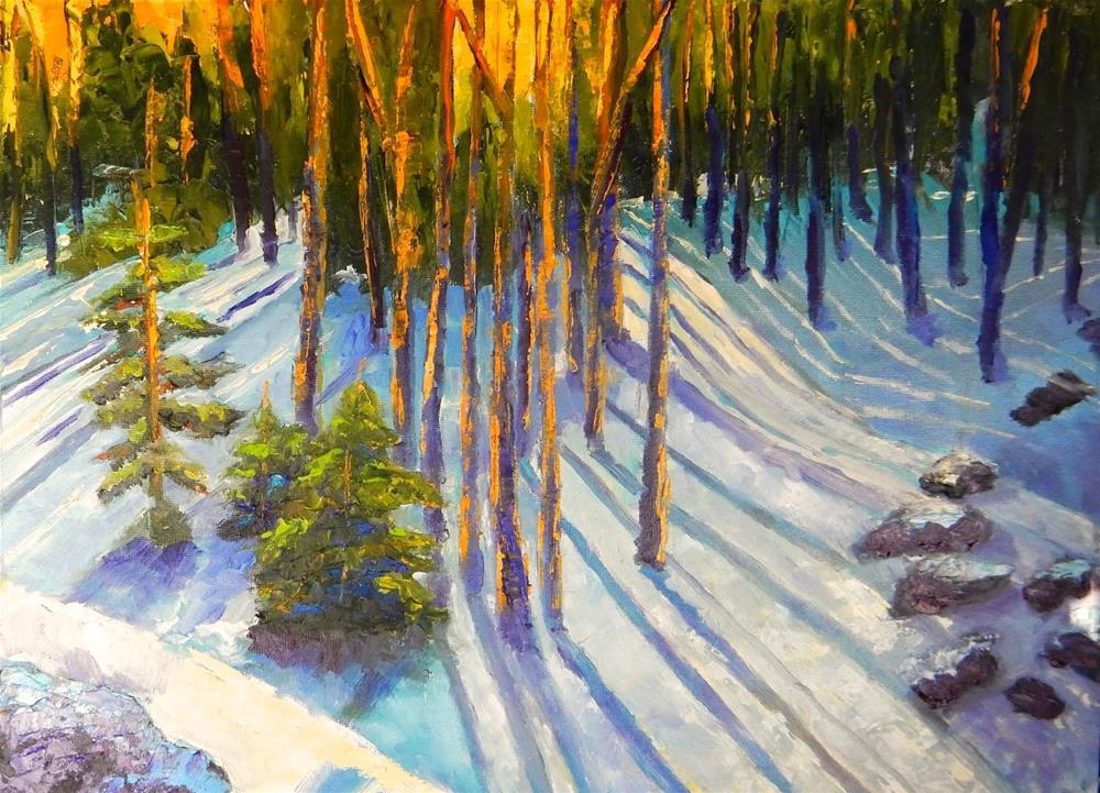 """Rocky Mountain Sunset"" original fine art by Phyllis Davis"