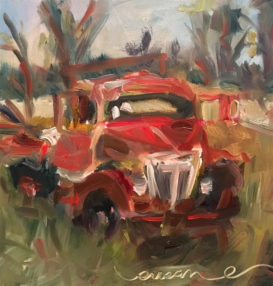 """Old Truck"" original fine art by Susan Elizabeth Jones"