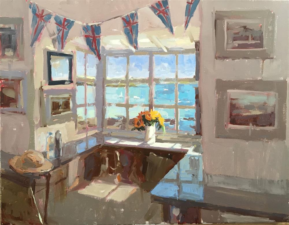 """""""Fishermens shelter and London workshop"""" original fine art by Haidee-Jo Summers ROI"""