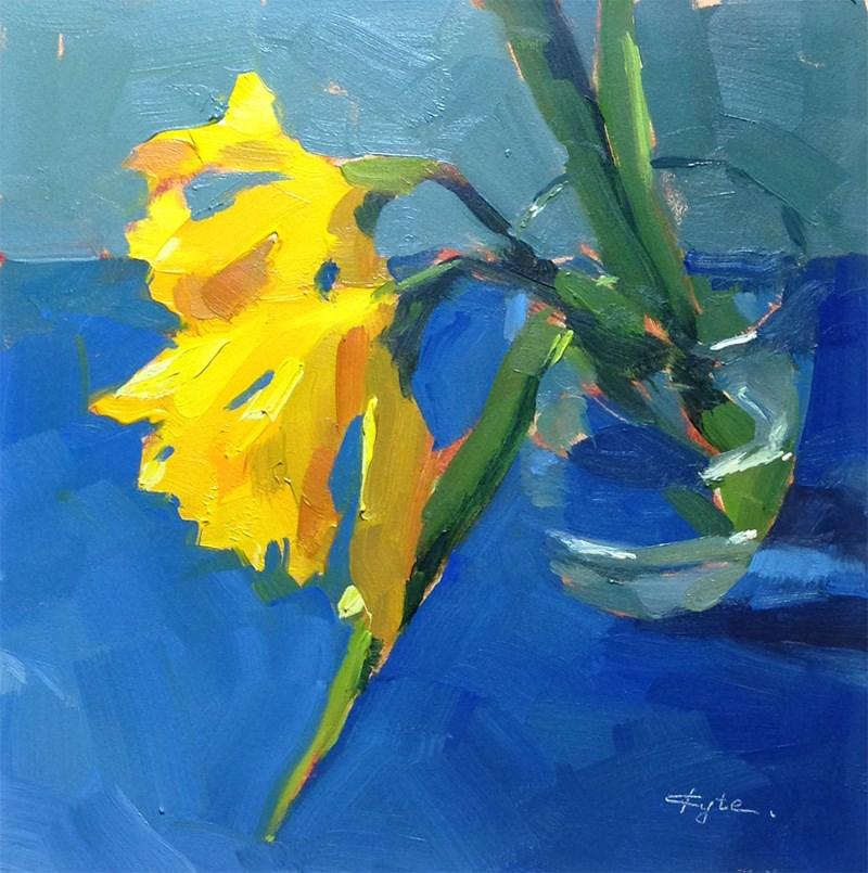 """Last Daffodils"" original fine art by Katia Kyte"