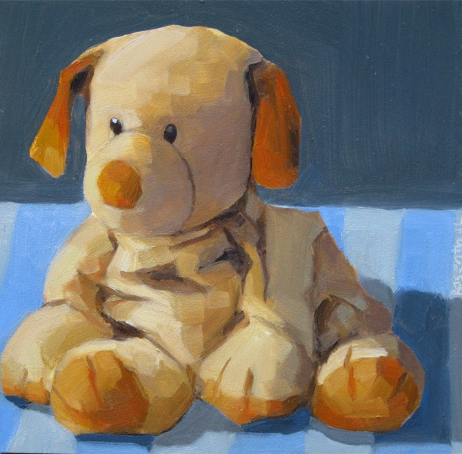 """Bean Bag Buddy"" original fine art by Robin Rosenthal"