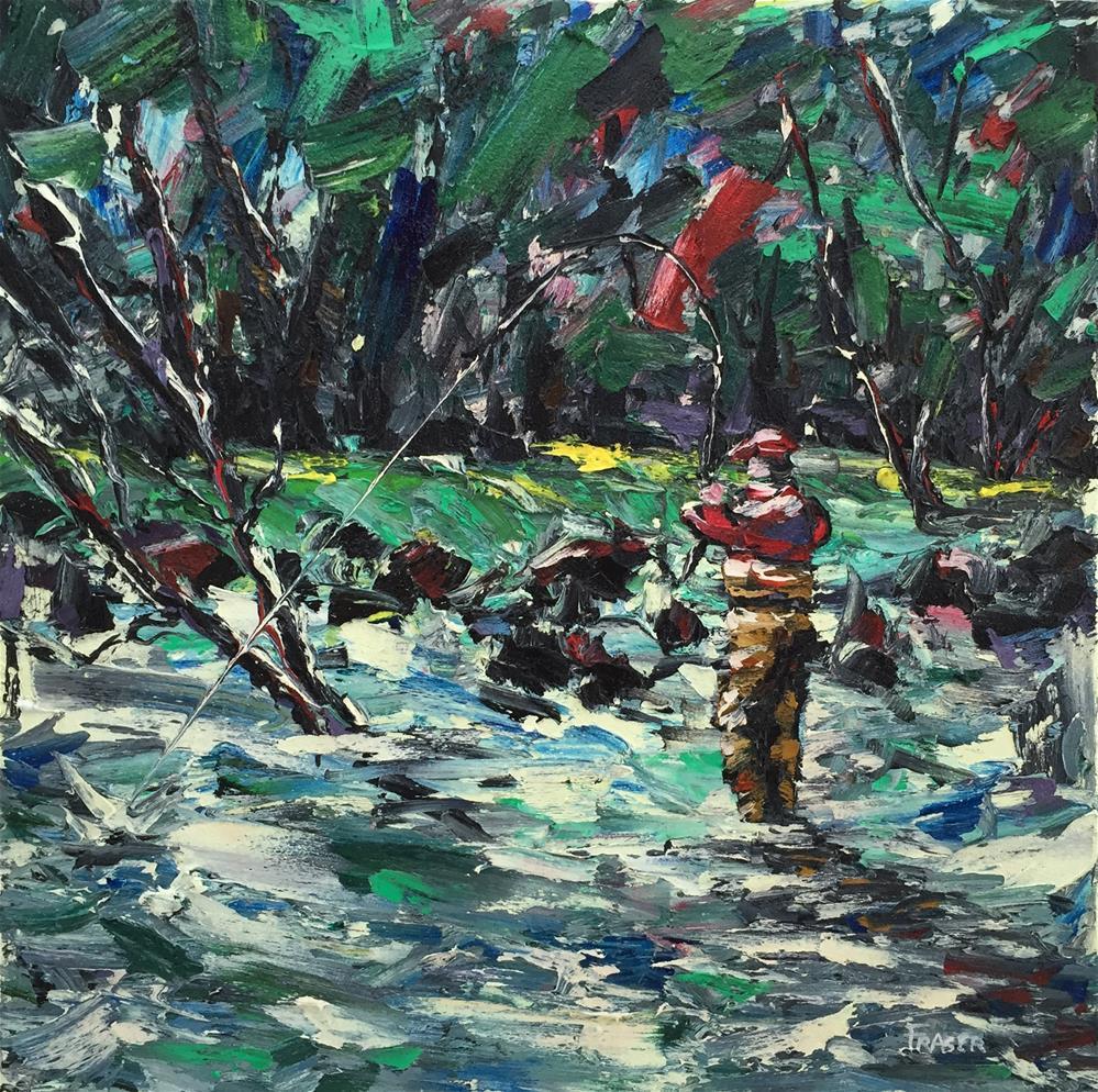 """Fish On!"" original fine art by Ken Fraser"
