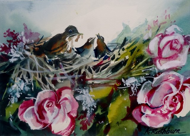 """Motherhood"" original fine art by Kathy Los-Rathburn"