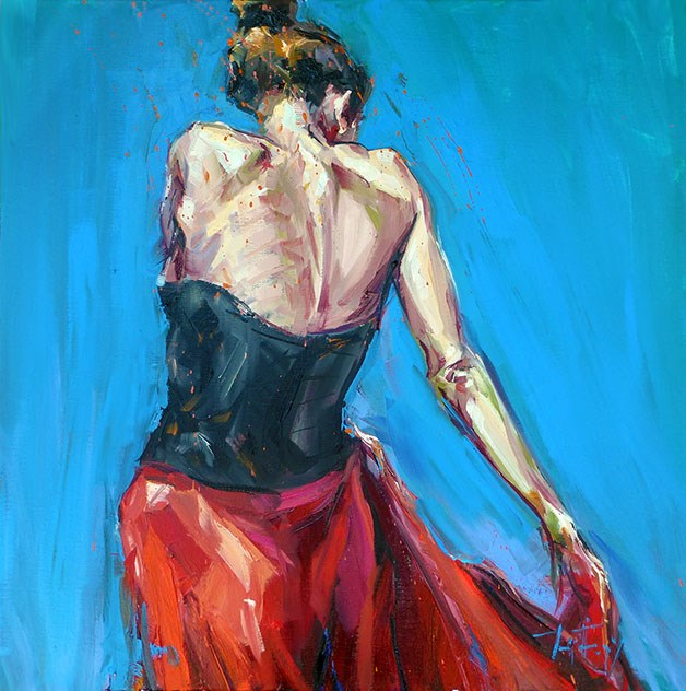 """Flamenco"" original fine art by Jurij Frey"