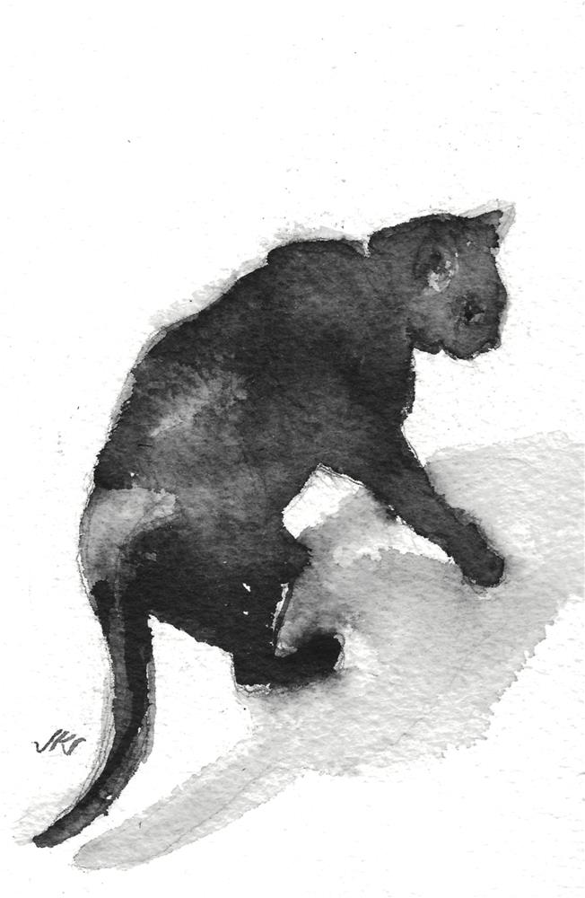 """Daily Cat 108"" original fine art by Jean Krueger"