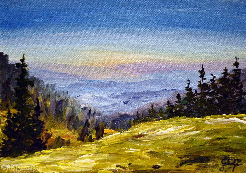 """View From Joseph's Hill"" original fine art by Gloria Ester"
