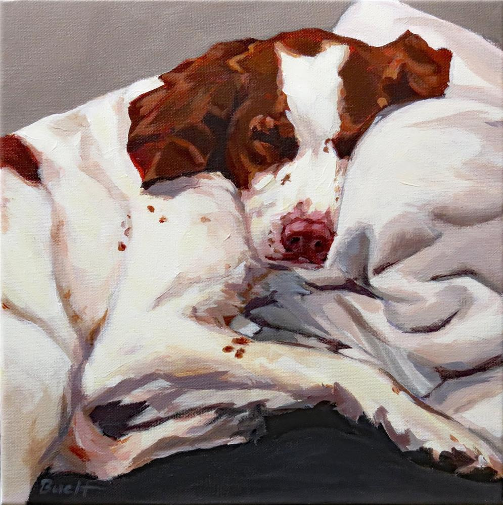 """Tuckered Tucker"" original fine art by Shari Buelt"