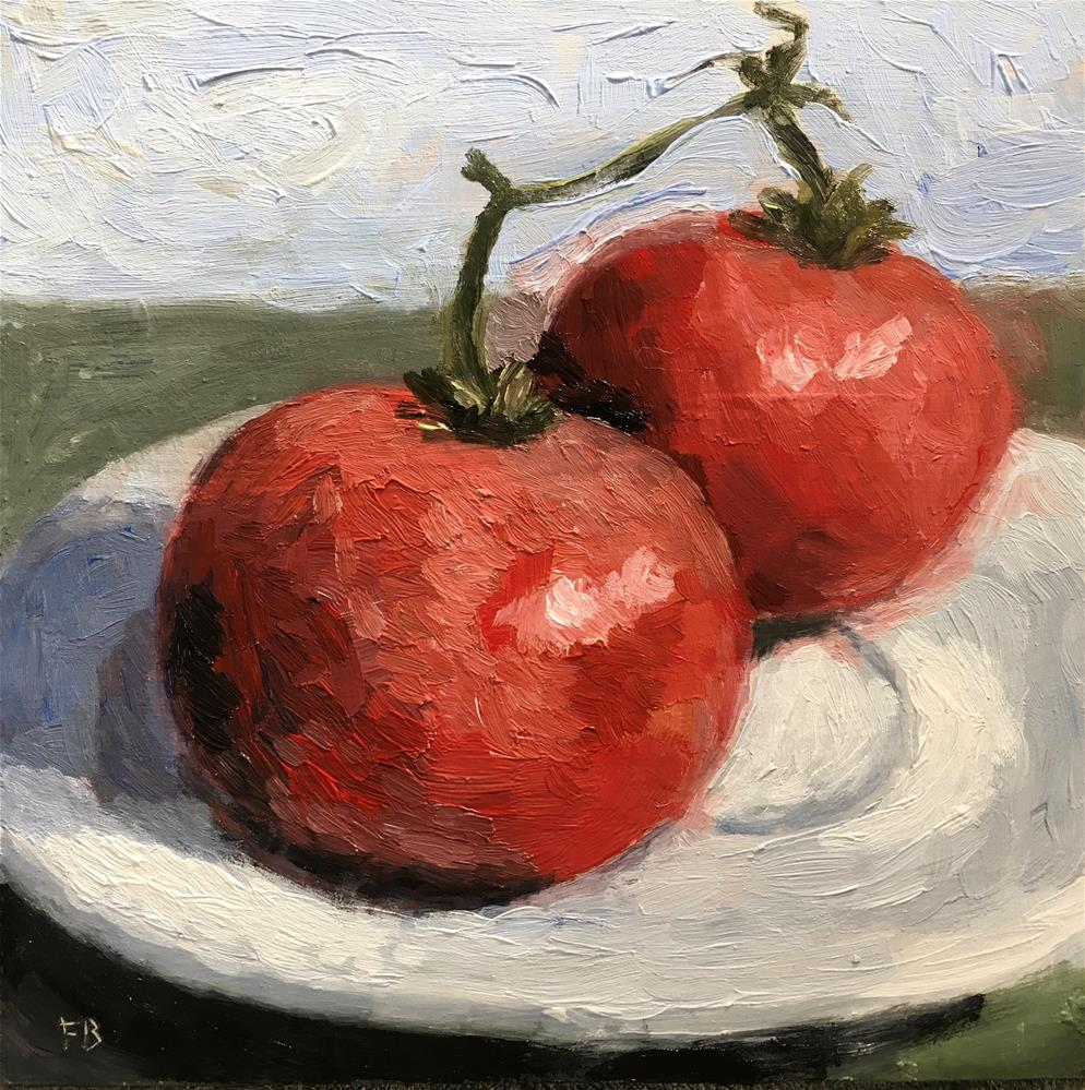"""""""238 Tomatoes"""" original fine art by Fred Bell"""