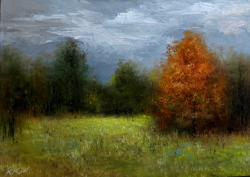"""""""The Small Clearing"""" original fine art by Bob Kimball"""
