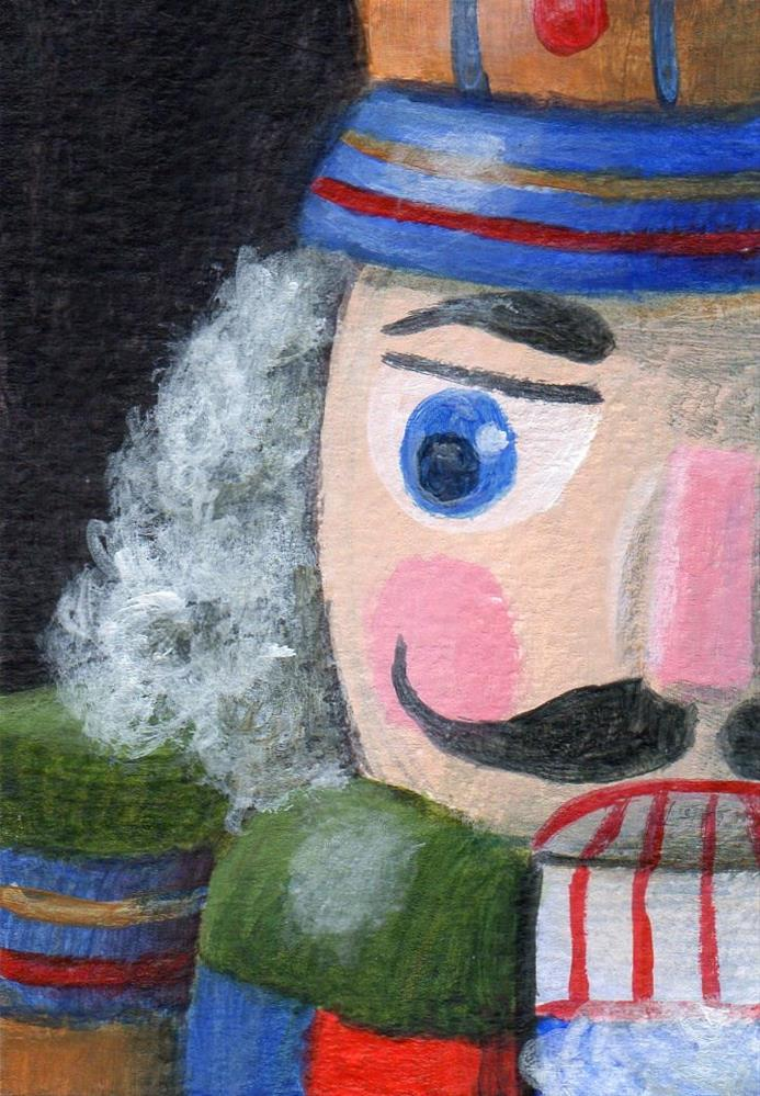 """Holiday Guard"" original fine art by Debbie Shirley"