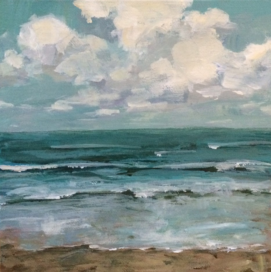 """""""We Were by the Sea"""" original fine art by Shannon Bauer"""