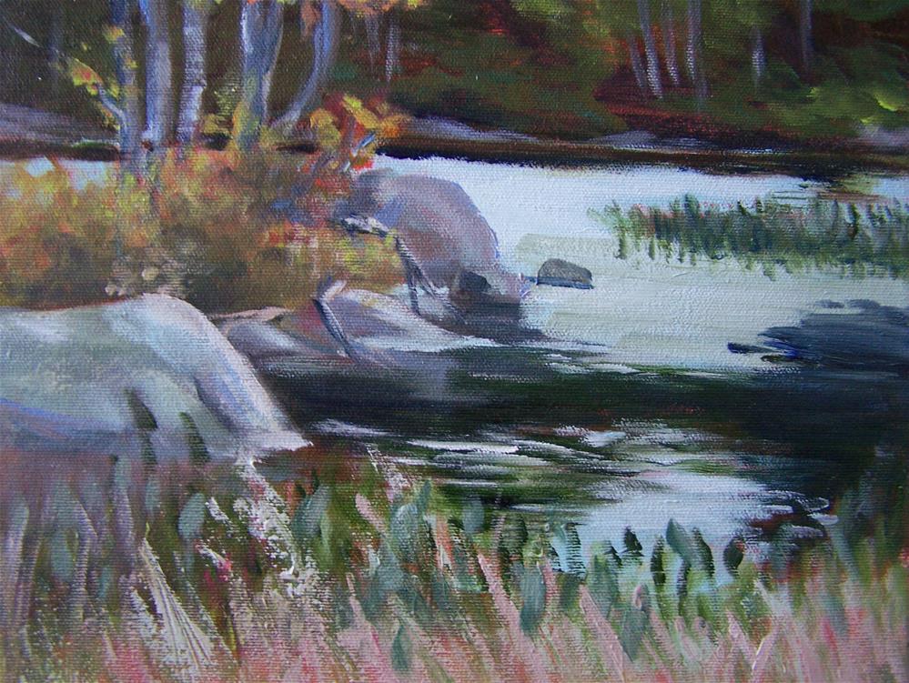"""Quiet Cove"" original fine art by Joan Reive"
