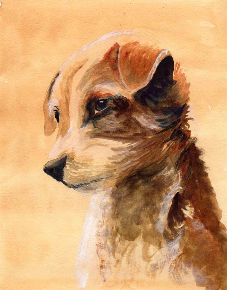 """""""Dog Portrait """" original fine art by Bunny Griffeth"""