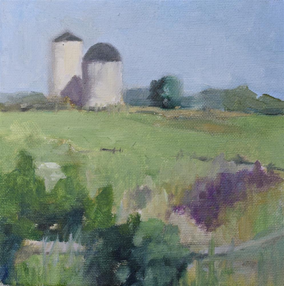 """""""the hill 2"""" original fine art by Theresa Heidig Rooney"""