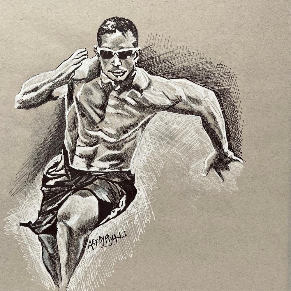 """""""Dan Bailey (Crossfit)"""" original fine art by Piya Samant"""