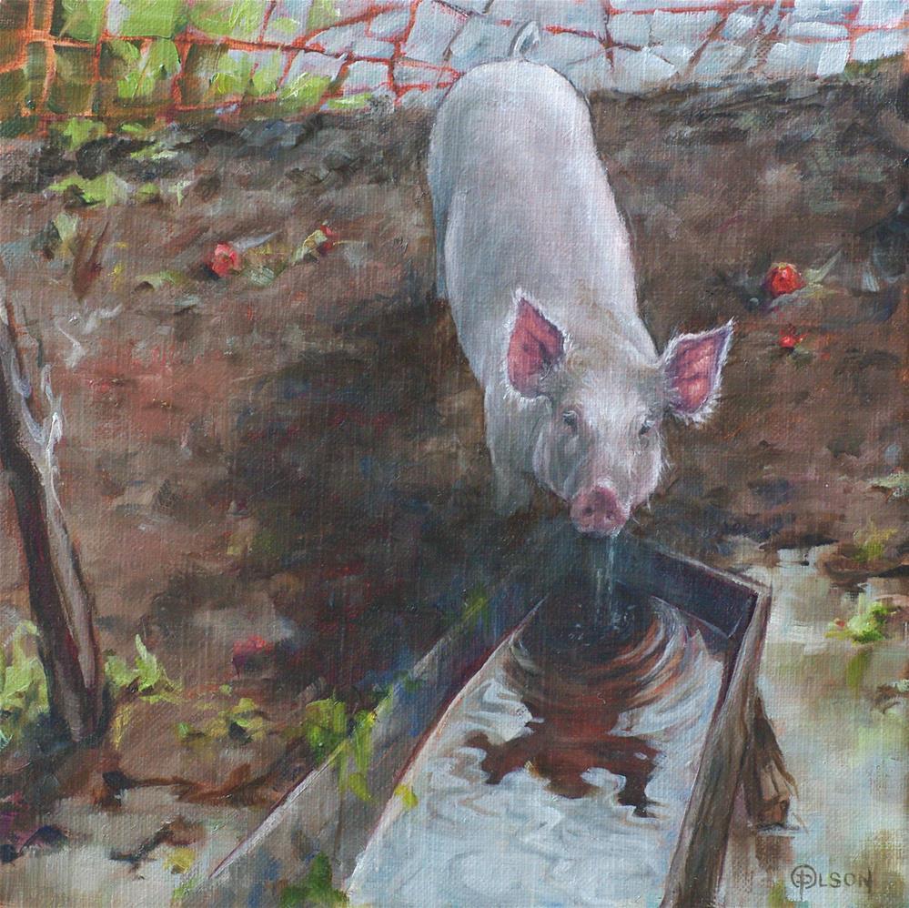 """""""all ears"""" original fine art by Priscilla Olson"""