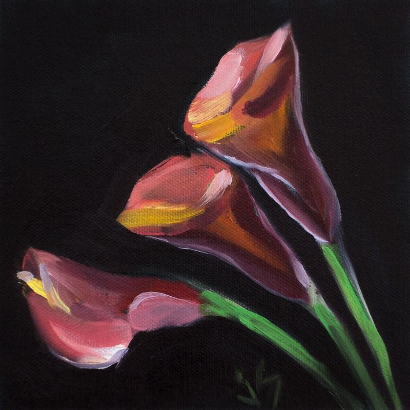 """""""Calla Three"""" original fine art by Johnna Schelling"""