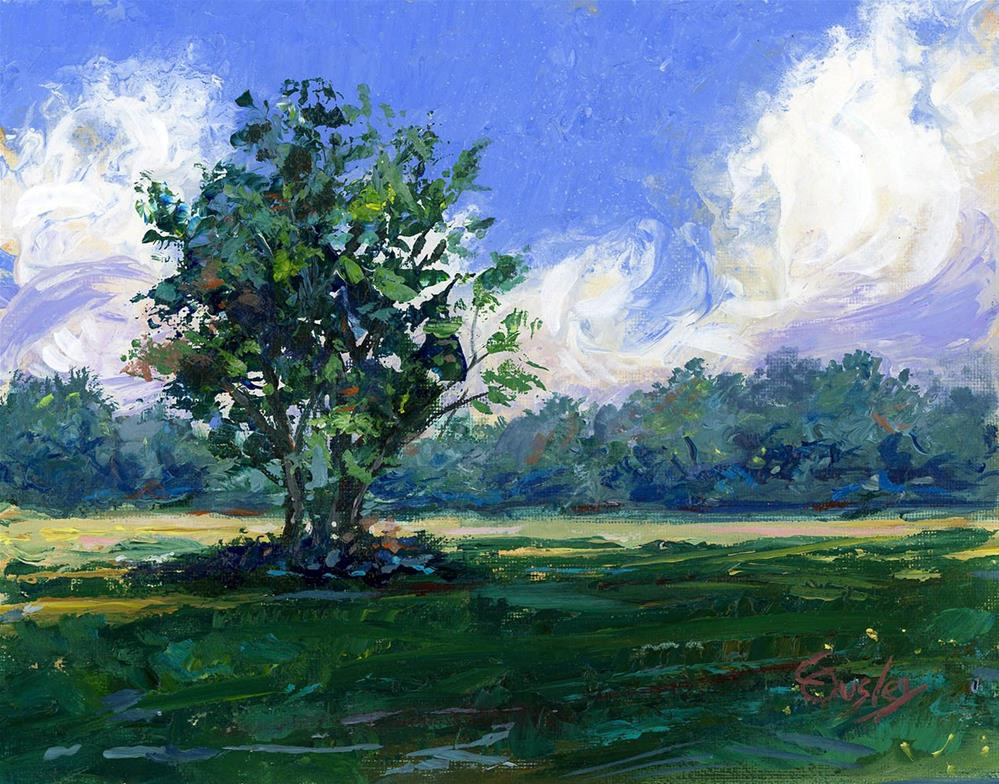 """Smyrna Meadow"" original fine art by Chris Ousley"