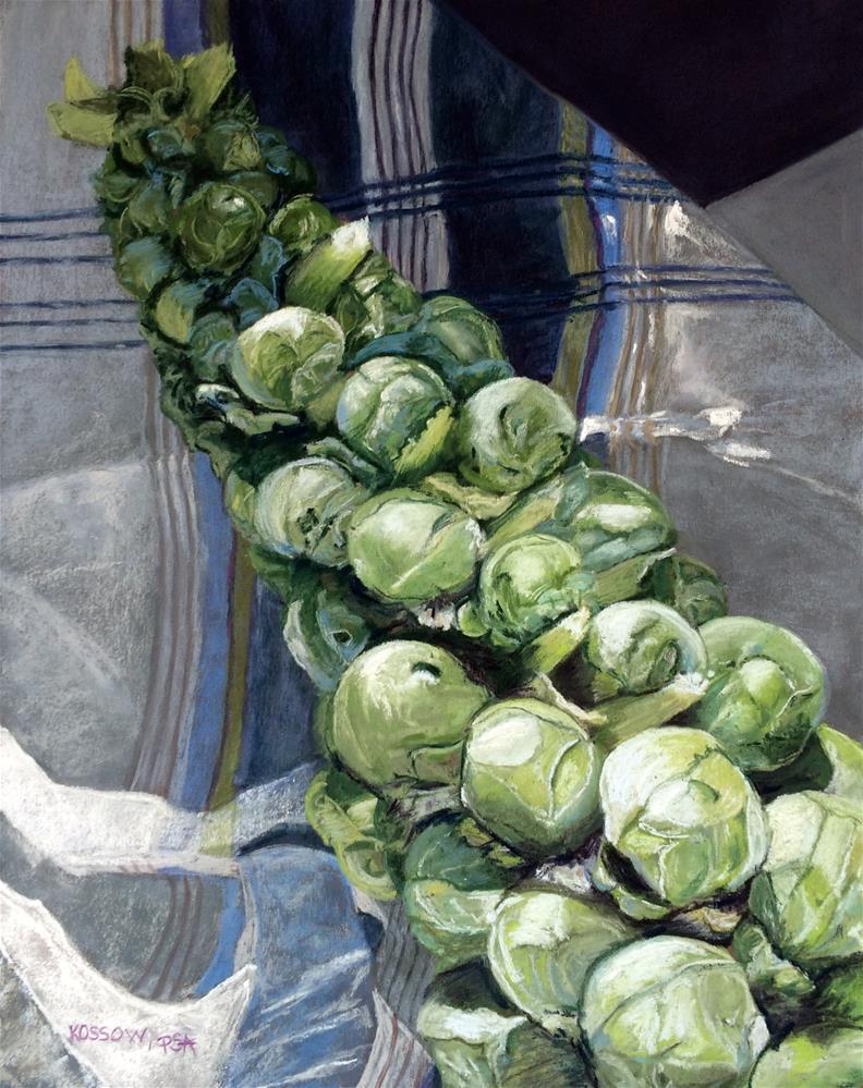 """33 Greens"" original fine art by Cristine Kossow"