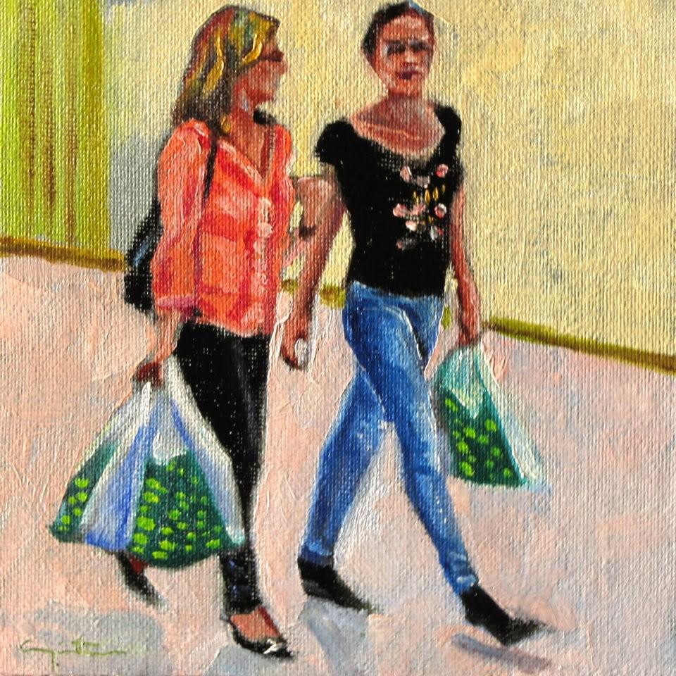 """""""Amigas"""" original fine art by Eduardo Carpintero"""