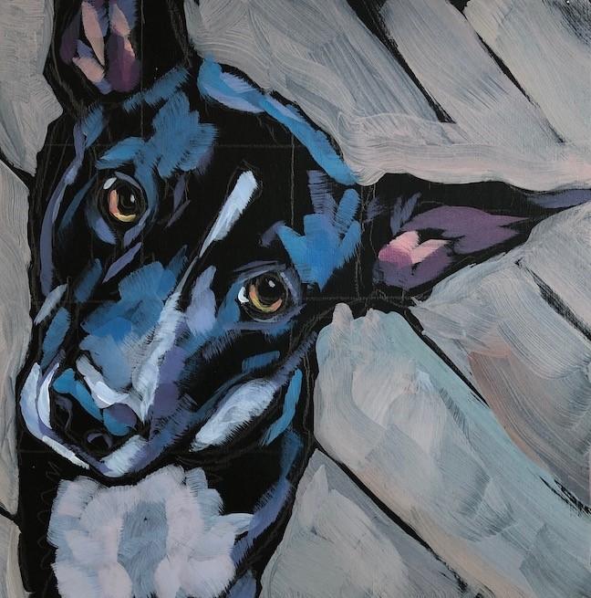 """Dobbie!"" original fine art by Kat Corrigan"