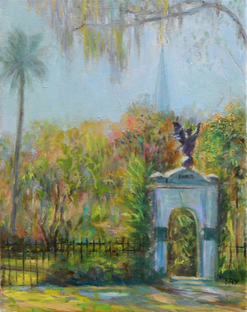 """Colonial Park - Savannah , Ga"" original fine art by barbara yongue"