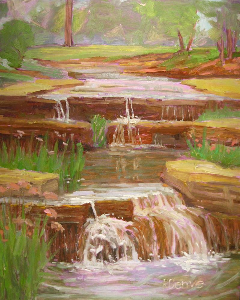 """Waterfalls at Franklin Park"" original fine art by Robie Benve"