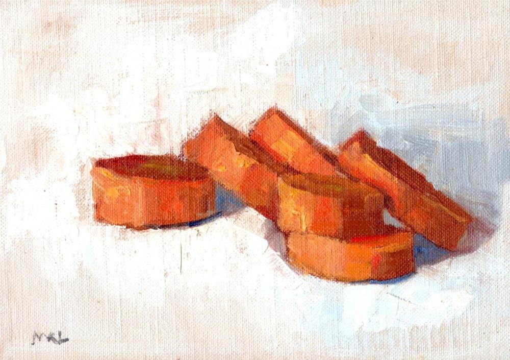 """Carrot Slices, 2015"" original fine art by Marlene Lee"