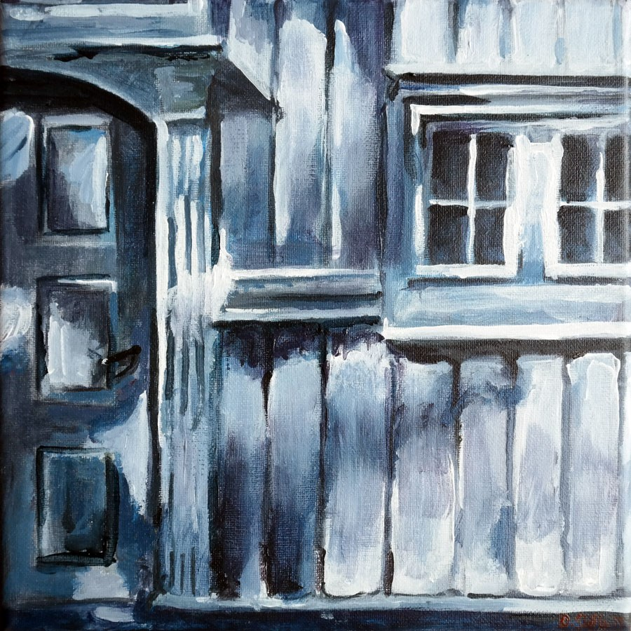 """0756 House Spots"" original fine art by Dietmar Stiller"