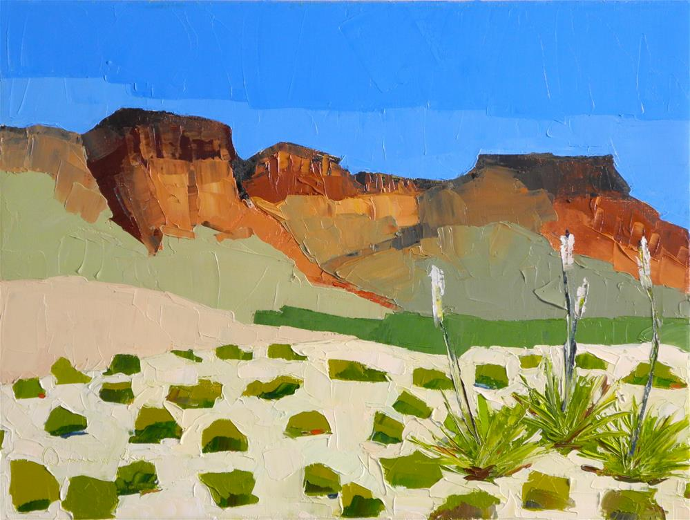 """Arid Vista"" original fine art by Donna Walker"