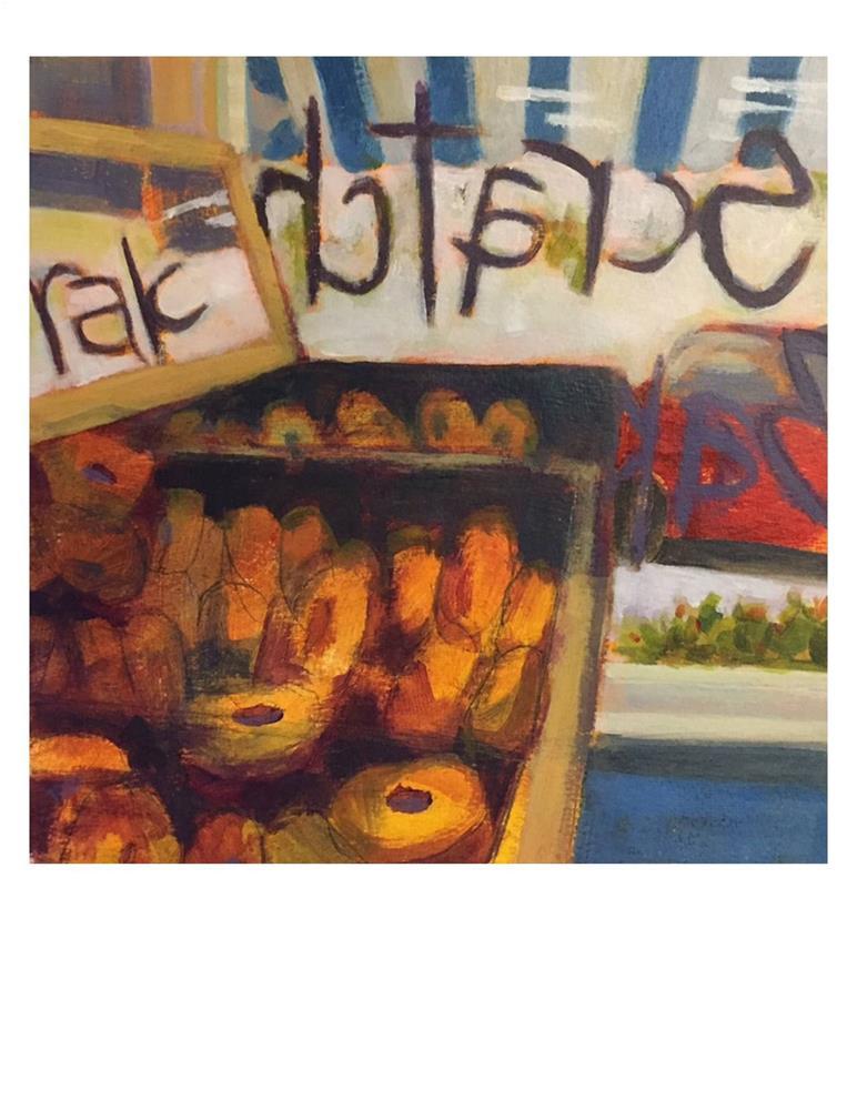 """""""The Bagel Bin"""" original fine art by Suzanne Woodward"""
