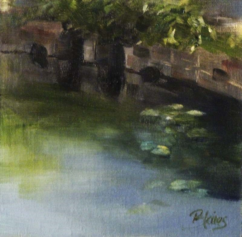 """""""Summerbrook Pond"""" original fine art by Pamela Blaies"""