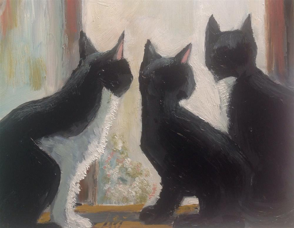 """The Cat's Window"" original fine art by Annette Balesteri"