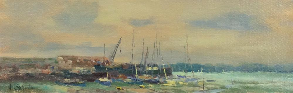 """Sunset Heybridge Basin. 2"" original fine art by John Shave"