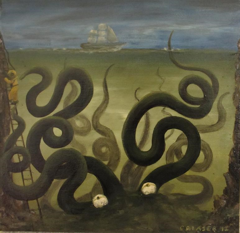 """Inconspicuous"" original fine art by christina glaser"