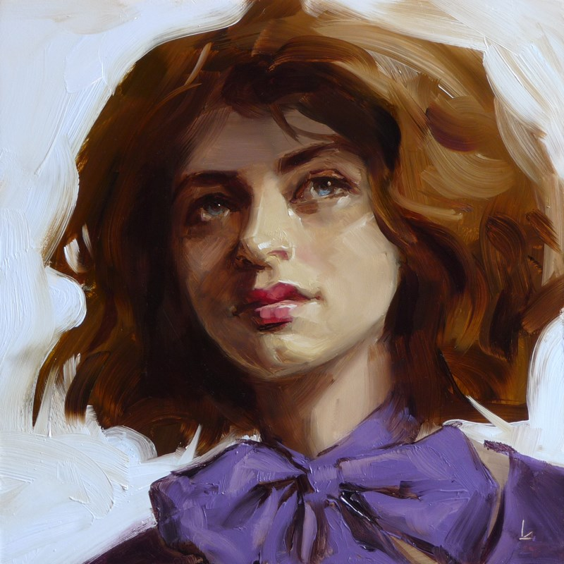 """Violaceous"" original fine art by John Larriva"