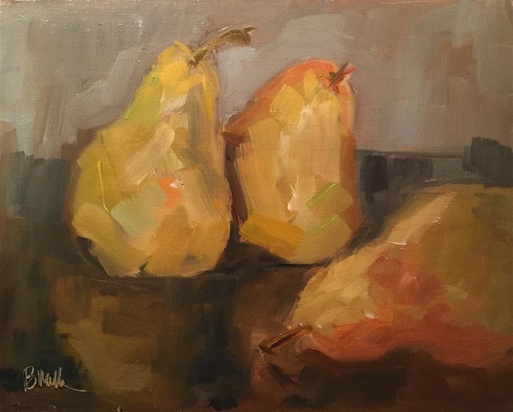 """Pear Reflections"" original fine art by Barb Walker"