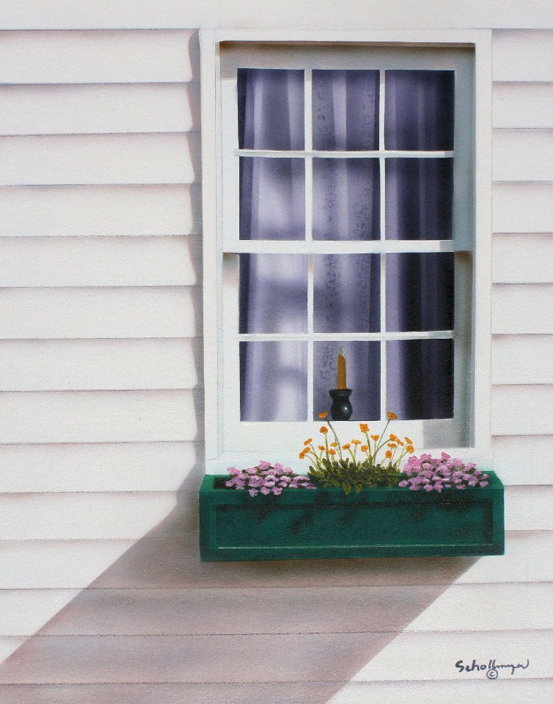 """""""Window to the Past"""" original fine art by Fred Schollmeyer"""