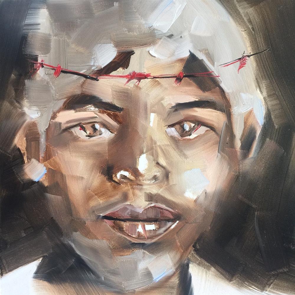 """457 Gethsemanie"" original fine art by Jenny Doh"