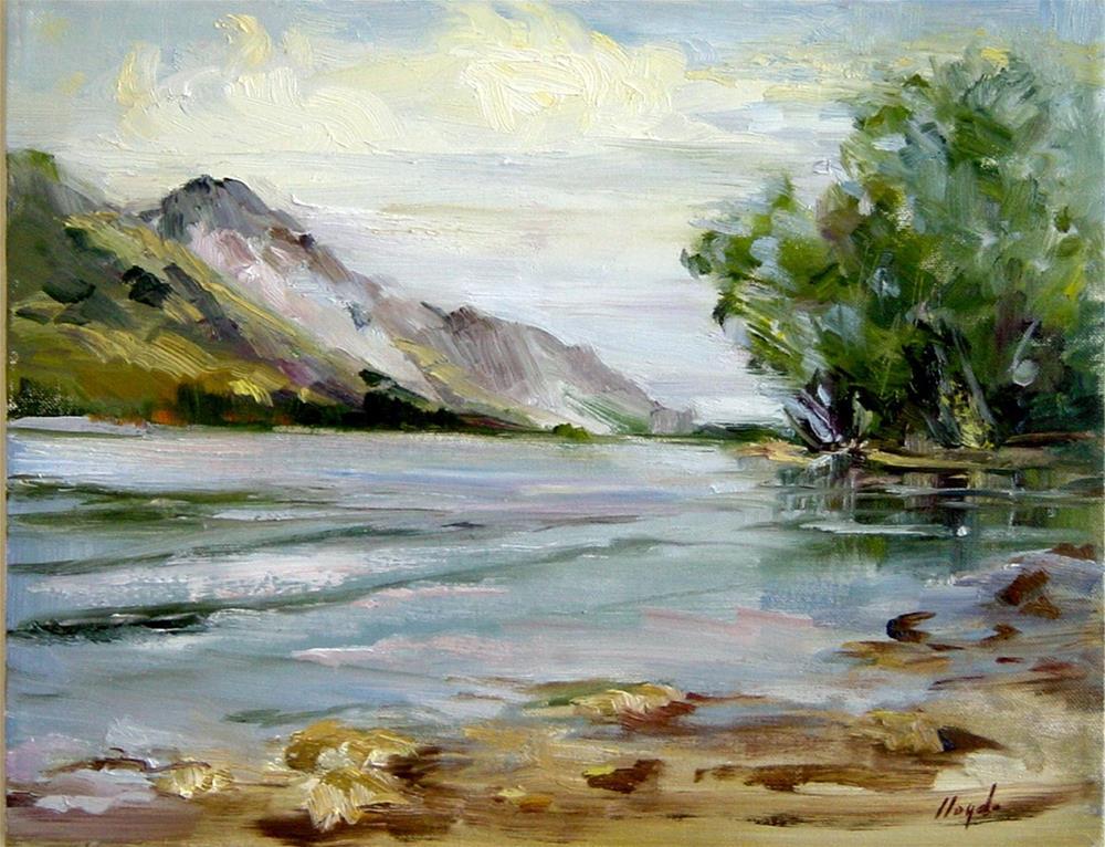 """Jenny Lake at Jackson Hole"" original fine art by Diane Lloyd"