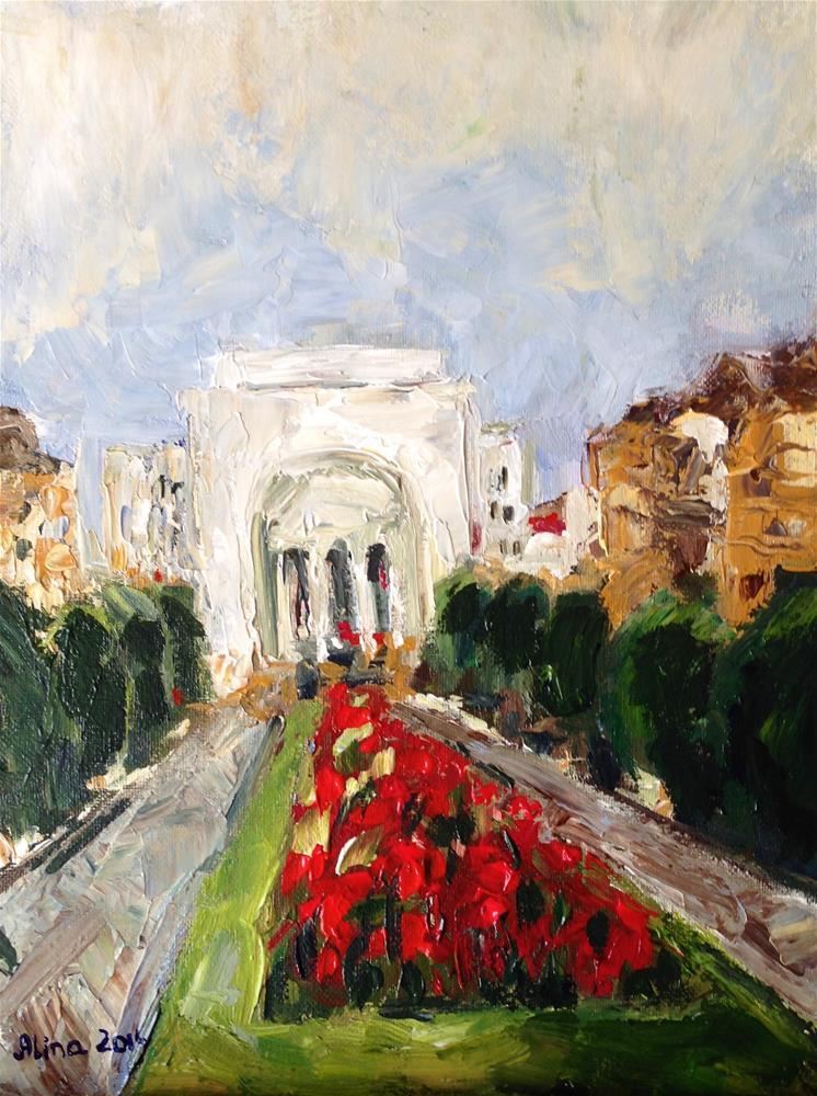 """""""Opera House"""" original fine art by Alina Vidulescu"""